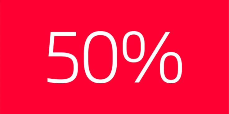 Spar 50% på alle glas og tillæg