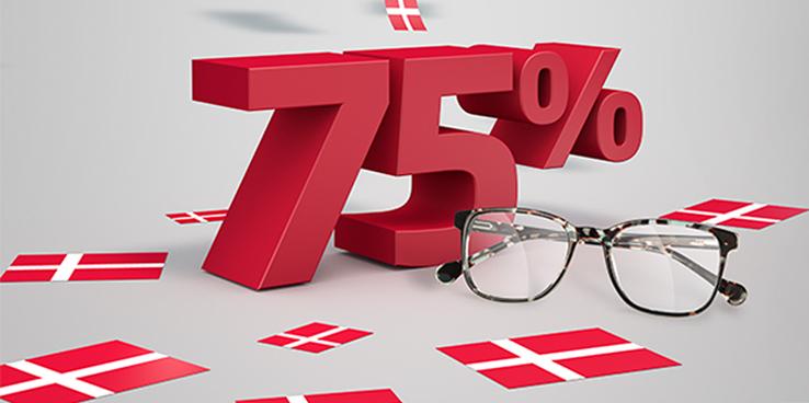 Op til 75% på designerbriller